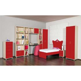 Παιδικό Δωμάτιο Σετ Princess Oak-Red Μονό 7d62a039f5c