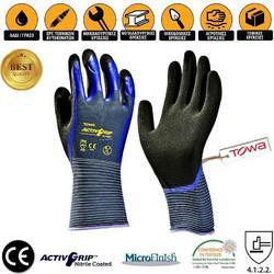 Γάντια Εργασίας Νιτριλίου Παλάμης +amp Δαχτύλων Υπερανθεκτικά στην Ολίσθηση  TOWA ActivGrip CJ-568 ddbc26ee1ac