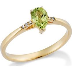 Δαχτυλίδι Από Χρυσό 18k Με Peridot Και Διαμάντια (no54) 07a7f9d3d89