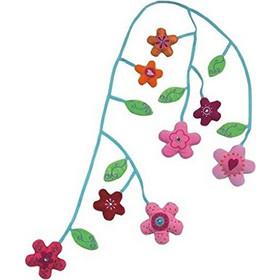 ύφασματινη γιρλαντα ΗΑΒΑ με 8 λουλούδια και φύλλα 155 εκατοστά μήκος  κωδικος 3069 8e20e073885