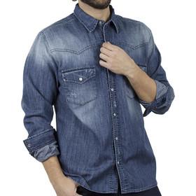 2337f0d01a7 Ανδρικό Τζιν Πουκάμισο Comfort-Regular Fit SHAFT 4020 Μπλε