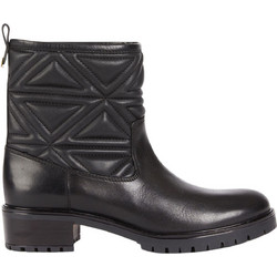 0098de5316 EMPORIO ARMANI Leather boots with quilted leg.