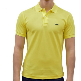 edeef5f3db7d LACOSTE L1212 POLO CLASSIC FIT IN PETIT PIQUE DAPHNE YELLOW