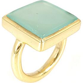 Ασημένιο Επιχρυσωμένο Δαχτυλίδι με Ορυκτή Πέτρα DX267 9b95a0fc4e3
