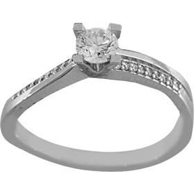 Δαχτυλίδι μονόπετρο λευκόχρυσο 18 καράτια με μπριγιάν 0.34ct 6c9df9fa2ee