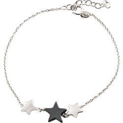 Βραχιόλι Loisir Από Ασήμι Με Όμορφα Mini Στοιχεία Σε Σχήμα Αστεριού  Φτιαγμένα Από Ασήμι Και Αιματίτη 9fee6050374
