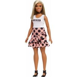 Mattel Barbie Fashionistas Πουά Φούστα   Λευκό Μπλουζάκι 345446e3a4a