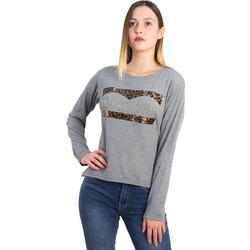 dd2f6a1b7b2a Γυναικεία γκρι ασσύμετρη μπλούζα λεοπάρ τύπωμα 1175932