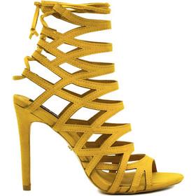 f2cc91d44d6 Πέδιλα κίτρινα σουέτ με κορδόνια στο πίσω μέρος 302155yel. Tsoukalas Shoes
