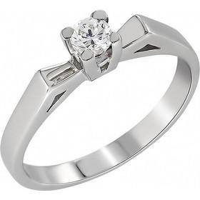 Μονόπετρο δαχτυλίδι Κ18 λευκόχρυσο με διαμάντι κοπής brilliant - MBR019 f4d66ddc2df