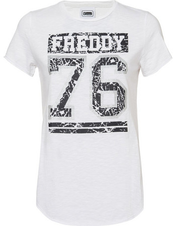 T-shirt 76 Freddy WT175L03N00V92 - λευκό 6bb257ef62d
