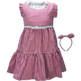 713e2125f545 Παιδικό Φόρεμα Εβίτα 198287 Καρρώ Κορίτσι