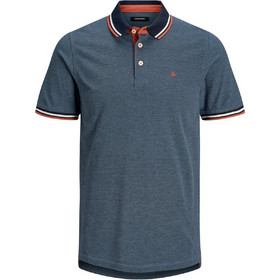 ee4d00ff5b18 JACK   JONES ανδρική μπλούζα polo με διχρωμία - 12136668 - Μπλε