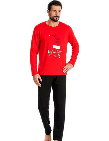 Ανδρική Πυτζάμα Minerva Christmas Σκούφος Red - 100% Βαμβάκι Interlock -  Χειμώνας 2018 19 9c8a5e7bf87