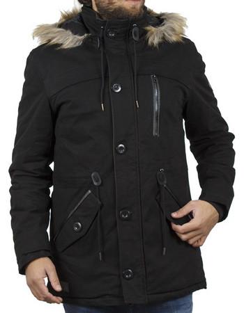 Ανδρικό Μακρύ Μπουφάν Parka Jacket με Κουκούλα ICE TECH G638 Μαύρο ba0acf25cae