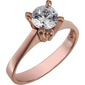 Δαχτυλίδι swarovski ροζ gold Κ14 με ορυκτή πέτρα topaz 025752 025752 Χρυσός  14 Καράτια 8656351ef6d