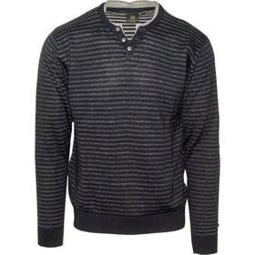 7d039ce7306f 71428-03 Ανδρική πλεκτή μπλούζα με V - Μπλέ navy melange