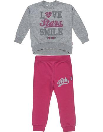 b2c3f1b8eba Alouette Five Star παιδικό σετ φόρμας φούτερ και παντελόνι με letter print  - 00230550 - Φούξια