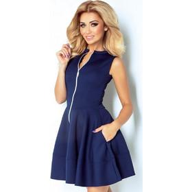 deef3416b762 Μίνι φόρεμα με φερμουάρ αμάνικο Numoco-Dark Blue