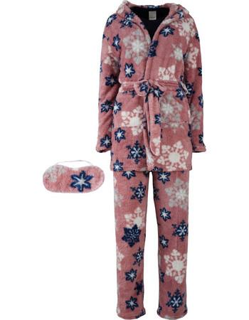 Set πυζάμα   ρόμπα fleece.Comfortable style.New arrival. ΣΑΠΙΟ ΜΗΛΟ 56c23649817
