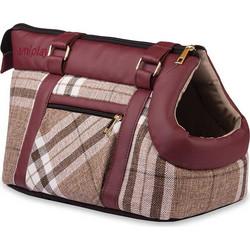 Τσάντα Μεταφοράς Σκύλου και Γάτας Premium Amiplay Kent Βουργουνδί με Μπεζ 70312c1b760
