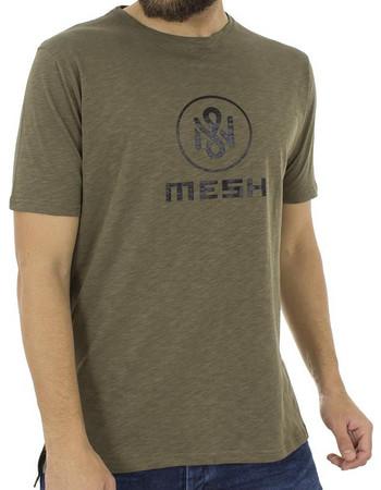 28b16a42327e Ανδρικό Κοντομάνικη Μπλούζα T-Shirt MESH+ampCO Mesh Logo 0210 Χακί