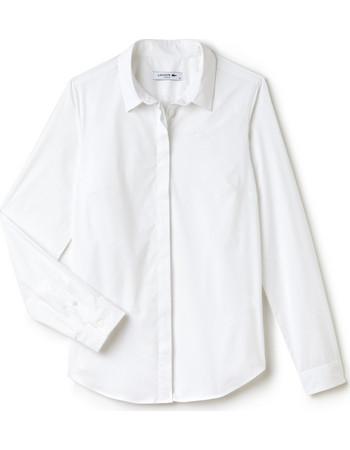 73787f1a95a0 Γυναικείο πουκάμισο μονόχρωμο Modern Heritage Lacoste - CF7907 - Λευκό