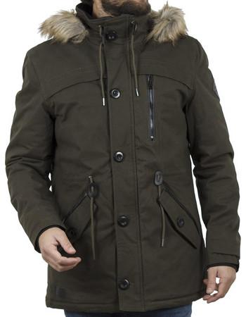 a57b7402640b Ανδρικό Μακρύ Μπουφάν Parka Jacket με Κουκούλα ICE TECH G638 Olive