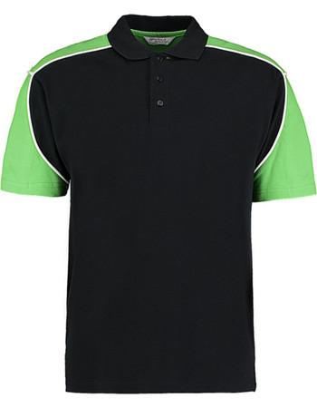 Formula Racing Monaco Polo Shirt Kustom Kit KK611 - Black Lime White 5f32cb7dcd0
