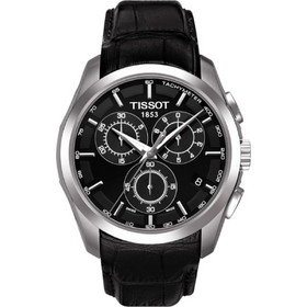 Tissot Trend Couturier Chronograph Black Leather Strap T0356171605100