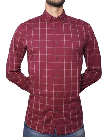 μπορντο πουκαμισο - Ανδρικά Πουκάμισα  8fe402fe3b0