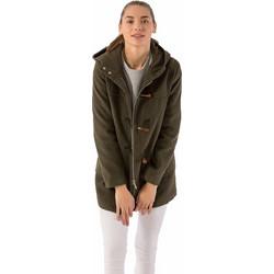 Παλτό σε στυλ μοντγκόμερι με κουκούλα και φερμουάρ - Χακί 01f223194fd