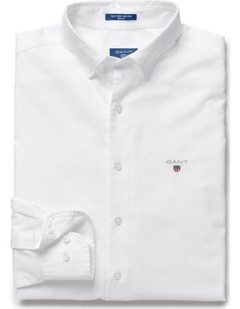 Ανδρικό πουκάμισο Oxford Plain Reg HBD Gant - 3005130 - Λευκό 42dffbc8e10