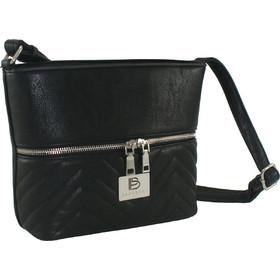 8650814037 Γυναικεία τσάντα χιαστή Bartuggi 600-2096-2 σε μαύρο χρώμα