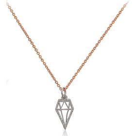 Κολιέ διαμάντι από ρόζ χρυσό 14 καρατίων Κ14 75349d84cb8