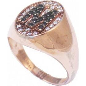 Δαχτυλίδι chevalier ασημένιο με μονόγραμμα το Μ UCM18 1ec76295edc