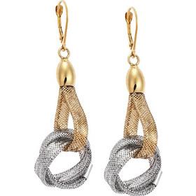Σκουλαρίκια Κρεμαστά Χρυσά 14Κ Δίχρωμα 5c7de98c1c9
