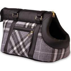 2921624cffd1 Τσάντα Μεταφοράς Σκύλου και Γάτας Premium Amiplay Kent Μαύρο με Γραφίτη