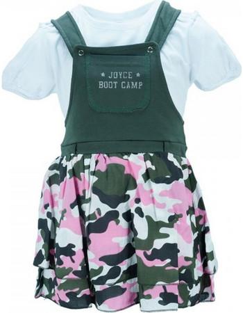 Παιδικό Φόρεμα Joyce 8085 Χακί Παραλλαγή Κορίτσι 5d951366e7f