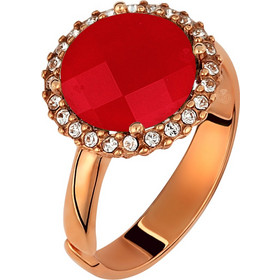 Ασημένιο δαχτυλίδι ροζέτα 925 με κόκκινη πέτρα SWAROVSKI AD-15999KR1 f30c0119f8c