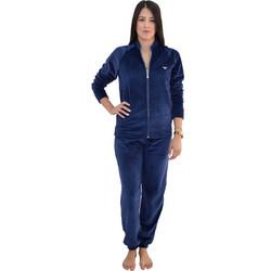 348f7fccd286 Σετ φόρμα βελουτέ Emporio Armani EA7 1641358A261 - μπλε σκούρο