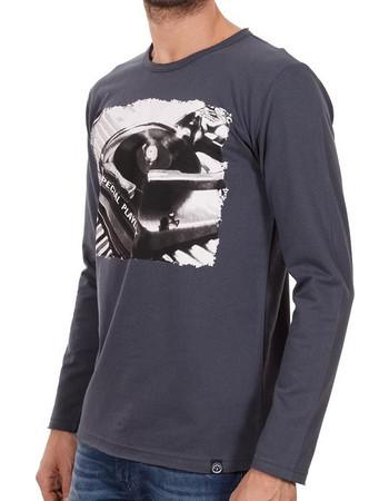 6a635b261620 Ανδρικό Μακρυμάνικη Μπλούζα Cotton4all 18-406 Γκρι