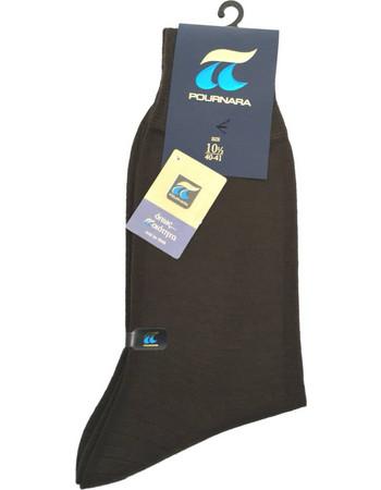 Ανδρική Κάλτσα Μάλλινη POURNARA 158 καφέ - ΚΑΦΕ 4e59ebc8d6e