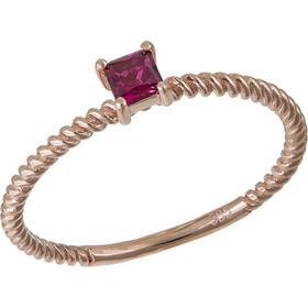 Ροζ gold μονόπετρο Κ14 με κόκκινη πέτρα ζιργκόν 031597 031597 Χρυσός 14  Καράτια 80888dc9343