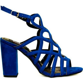944e6e8823d Πέδιλα μπλε σουέτ με σχέδιο και λουράκι 342166blue. Tsoukalas Shoes
