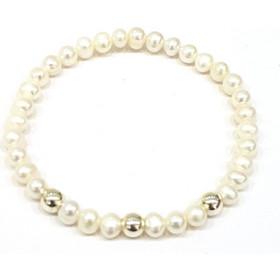 Βραχιόλι από Ασήμι 925 σε Λευκό Χρώμα με Μαργαριτάρια 66f95625d07