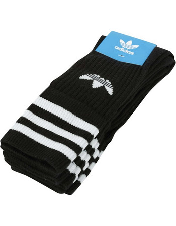 adidas Originals Solid Crew Socks S21490 Μαύρο 4da719cfc5a