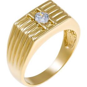 Δαχτυλίδι ανδρικό από χρυσό 14 καρατίων με ζιρκόν. MY27278 b9ff5d51991
