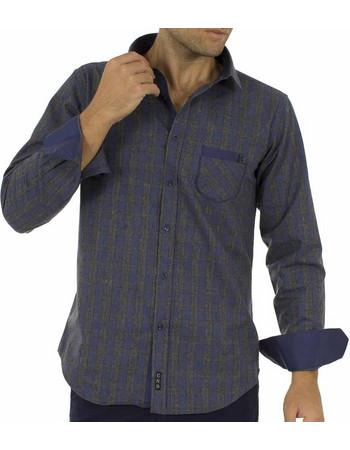 Ανδρικό Καρό Πουκάμισο Φανέλα CND Shirts 850-3 σκούρο Γκρι c4bae8ef09b