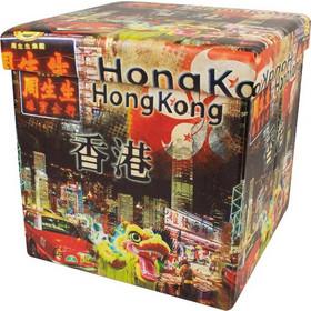 ae619458804 Homa 269 Σκαμπό Πτυσσόμενο με Αποθηκευτικό Χώρο με θέμα Hong Kong  38x38x38cm - Homa